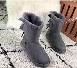 sweet tubes NZ - 2019 new snow boots ladies men's sweet bow in the tube warm non-slip cotton shoes fashion boots US size 5-13