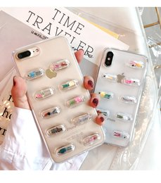 Discount capsule cartoon - Mobile Phone Shell Cartoon Capsule Pills Soft Shell Transparent Personality Drop High Quality Mobile Phone Case For ipno