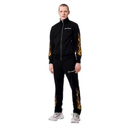 $enCountryForm.capitalKeyWord Australia - Mens Fashion Designer Tracksuits Casual Sport Jacket and Pants Suits Fire Print Male Spring Autumn Winter Tracksuits