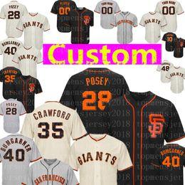 Crawford jerseys online shopping - 28 Posey Brandon Crawford Madison Bumgarner Jersey Custom San Francisco Will Clark Giants Sandoval Melancon