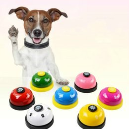 $enCountryForm.capitalKeyWord Australia - New Dog Training Pet Toy Training Called Dinner Small Bell Footprint Ring Dog Toys For Teddy Puppy Pet Call Intellectual toy Dog Supplies