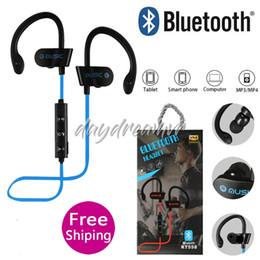 $enCountryForm.capitalKeyWord UK - RT558 Bluetooth Headphones Neckband Wireless Earbuds Bluetooth 4.2 EDR easy carry Jogging Sports Earphone with Hook Mic cheapest