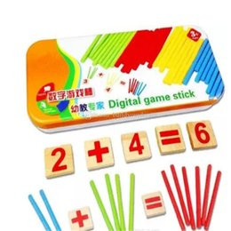 Counting Blocks Australia - 1Set Math Counting Toy Baby Toys Wooden Blocks Montessori Education Learning Toys Mathematical Intelligence Stick Building aa231-238 201801
