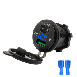 Discount lighter adapters - ON-OFF DC 12-24V USB car charger cigarette lighter fast charging adapter socket LED indicator 36W Car accessories