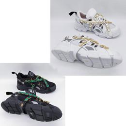 Mais novo Designer Sapatos Flashtrek Sneaker com Cristais Removíveis Mens Luxo Moda Casual Designer De Luxo Das Mulheres Sapatos Sneaker em Promoção
