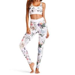 862ec67ffca Discount crop jog suit - Women Yoga Set Floral Print Crop Top High Waist  Jogging Pants