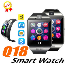 $enCountryForm.capitalKeyWord Australia - 1 PCS Cheapest Q18 Smart Watch Bluetooth Smart watches For Android Phone with Camera Q18 Support TF Card NFC Connection with Retail Package