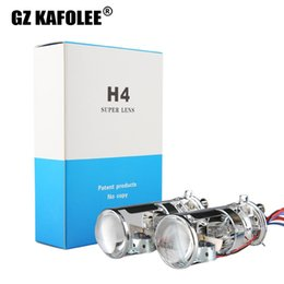 xenon hid headlamps UK - GZ KAFOLEE Car H Xenon H4 6000K 4500k Mini Projector Lens LHD For HID Headlamp H4 Type Easy To Install 55W 10000LM
