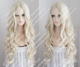 Bang Hair Girl Australia - 2017 new wig Platinum Blonde wavy curly hair center part bang fashion girl wig