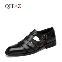 $enCountryForm.capitalKeyWord Australia - QFFAZ Hot Sale New Fashion Summer Leisure Beach Men Shoes High Quality Leather Sandals The Big Yards Men's Sandals
