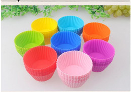 $enCountryForm.capitalKeyWord Australia - Silicone Cake Baking Molds 7cm Round Shaped Jelly Mold Silicon Cupcake Pan Muffin Cup 8 Colors Party Accessory Baking Mold DHL Free Shipping
