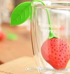 cartoon fruit strawberry Australia - Marki Lovely Fruit Strawberry Shape Tea Infuser Food Grade Silicone Tea Strainer For Loosing Leaf In Teapot 15k