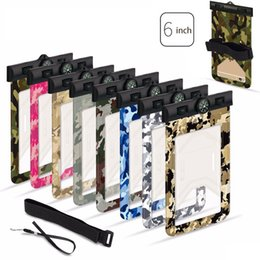 waterproof pocket bags for swimming Australia - Camouflage Waterproof Cellphone Pouch Dry Bag Beach Swimming Pocket for iPhone Money Card with Arm Band New