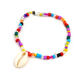 $enCountryForm.capitalKeyWord Australia - New product deserves to act the role of euramerican wind beach individual character multicolored mix color rice bead shell anklet female