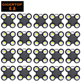 blinder stage light UK - TIPTOP 20 Units 4x100W 4Eyes LED Blinder Light COB Cool Warm White LED High Power Professional Stage Lighting For Party Dance Floor