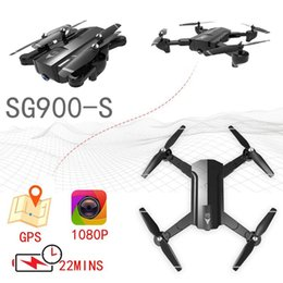 Discount quadcopter gps fpv - GPS Drones With HD Camera 1080p WiFi Camera Drone RC FPV Quadcopter Automatic Follow Flying Helicopter Sg900 Sg900s Self
