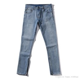 $enCountryForm.capitalKeyWord Australia - Nice Newest Ankle Zipper Jumpsuit Jeans Mens Designer Clothes Urban Clothing Club Fashion Singer Justin Bieber Fog Blue Skinny Jeans