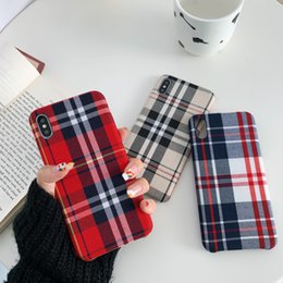 Plaid Gitter Karo-Muster Mode Tuch Design Weiche Handy-Fall-Abdeckung für iphone 11 pro max x xr xs max 7 8 Plus