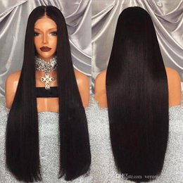 Silky Straight Blonde Wig Australia - Hot Selling 1b# 613# Black Blonde Long Silky Straight Full Lace Wigs 150% Density Heat Resistant Glueless Lace Front Wigs with Baby Hair