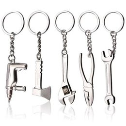 keychain emergency tool wholesale 2019 - Creative Metal Mini Tools Keychain Outdoor Adjustable Camping Survival Kit Hiking Emergency Tools Keyring Wrench Pendant