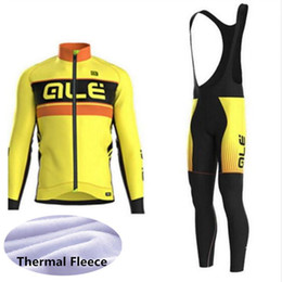 2c0821d82 team ALE bike Cycling Winter Thermal Fleece long Sleeves jersey bib pants sets  MTB Ropa Ciclismo cycling clothing mens bicycle Maillot 1306L