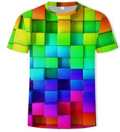 $enCountryForm.capitalKeyWord UK - squares short sleeve 3d printed men t shirt Casual summer t shirt for men   women Tops clothing plus size brand Tee