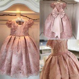 T shirT dress for Toddler online shopping - Lovey Holy Lace Princess Flower Girl Dresses First Communion Dresses For Girls Sleeveless Tulle Toddler Pageant Dresses
