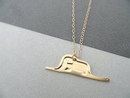 image alloys NZ - 30 Baby Elephant in Snake Necklace Little Prince Fairy tale Necklace Story Cartoon Image Necklace Cute Animal Necklaces for Gifts