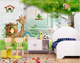 Wood Kids Kitchen NZ - 3d room wallpaper custom photo non-woven mural 3d giraffe 3d cartoon children room kids room mural wallpaper for walls 3 d