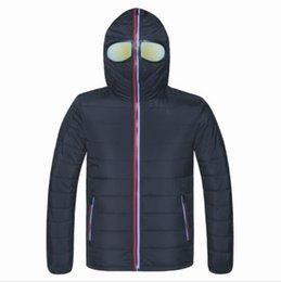 Vestes D'hiver Hommes Parkas Avec Des Lunettes Manteau À Capuche Rembourré Hommes Chaud Camperas Enfants Coupe-Vent En Peluche Veste