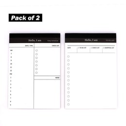 Discount check pad - to Do List Check List Note Pad, Daily Schedule Planner Shopping Organizer for Office and Kitchen Pack of 2