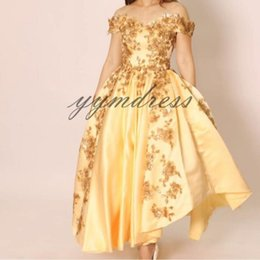 Dress Chart Australia - Luxury Yellow Quinceanera Dresses 2019 Sweet 16 girl Ball Gown Prom Dresses Lace Appliqué Beaded Princess Special Occasion Dress