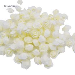 Foam Rose Heads White Australia - 50pcs lot 3.5cm PE Foam Rose Multi-use Artificial Flower Head Handmade With Tulle DIY Wedding Home Party Decoration Supplies C18112602