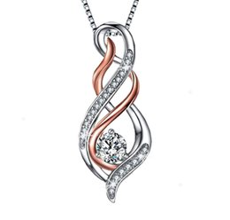 $enCountryForm.capitalKeyWord Australia - Ladies'new designer sells luxurious Mother's Day gifts, love pendant, clavicle chain accessories, micro-inlaid fashion creative double-heart