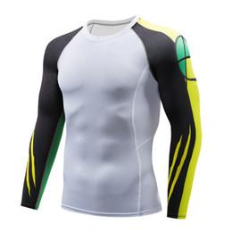 Men Head Gear Australia - New Men's 3D Printed Compressed Shirt Long Sleeve Bodybuilding, Skeleton Head Print MMA Muscle Man T-Shirt Bodysuit Top Gear