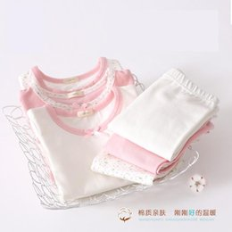 Service Clothes Australia - 2018 Autumn And Winter New Boys And Girls Thermal Underwear Set Cotton Home Service Children's Clothing 0726