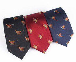 Wholesale Colored Jacquard Bird and Flower Multicolored Recreational Party for Men in Suits and Work Ties