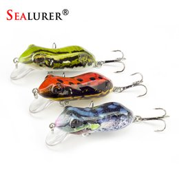 topwater lures Australia - lure floating SEALURER Boxed Fishing Lures Float Minnow Like Frog Artifical Fishfrog 60mm 10g with 2 Treble Hooks Topwater Bait Lure