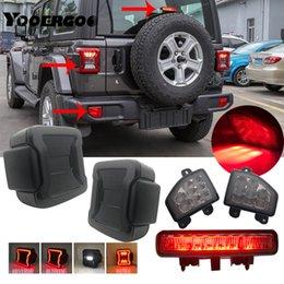 Venta al por mayor de EE.UU. / versión europea dirigida cola Niebla Aparcamiento Rojo Len tope posterior del reflector de la lámpara para Jeep Wrangler JL 2018 2019