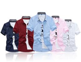 $enCountryForm.capitalKeyWord Australia - Men Shirt 2019 Male Short Sleeve Hawaiian Shirts Casual Collar Plaid Slim Fit Black Mens Dress Shirts High Quality 5xl