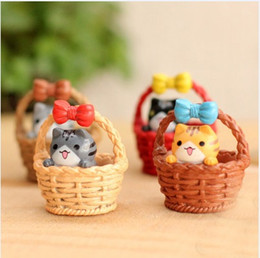cute japanese anime figure Australia - 4pcs Christmas Gift Mini Cheese cat miniature figurines toys cute lovely Model Kids Toys japanese anime children figure world