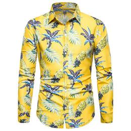 Men Flower Print Shirts Australia - 2019 New Arrival Man Shirt Pattern Design Long Sleeve Floral Flowers Print Slim Fit man Casual Shirt Fashion Men Dress Shirts