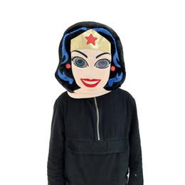Venta al por mayor de Máscara de la cabeza de la mascota de las mujeres de la venta directa de la fábrica Mejor máscara de la venta usada para el partido