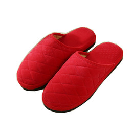 wholesale gifts homes NZ - New Fashion Soft Sole Autumn Winter Warm Home Cotton Plush Slippers Women Indoor Floor Flat Shoes Girls Gift flat with