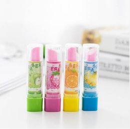 $enCountryForm.capitalKeyWord NZ - 4Pcs Set Kawaii Eraser Pencil Drawing Quality Tools School Supplies Kids School Items Erasers For Kids Rubber Cute Eraser Pencil