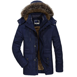 $enCountryForm.capitalKeyWord Australia - Mens Velvet Warm Coat Fashion Winter Jacket Men Thick Casual Outwear Jackets Men's Fur Collar Windproof Parkas Plus Size 6XL