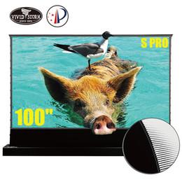 VividStorR S Pro 100-дюймовый электрический натяжной пол экран для UST ALL лазерный проектор моторизованный ультра короткий бросок экран фильма VSDSTUST100H на Распродаже