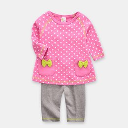 2ed20482579 Newborn Baby sweater Pant suits Dots spring autumn long Sleeve Colors Mixed  size 12M 18M 24M Jumpsuit Cute Romper 100% Cotton