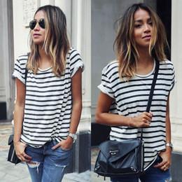 $enCountryForm.capitalKeyWord Australia - New Summer Women Tops O-Neck T-Shirt Short Sleeve Striped T Shirts Tees Blusas Femininas Drop Shipping S M L XL Plus Size