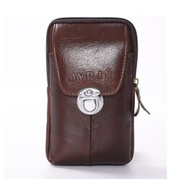 coin bag men 2019 - BYCOBECY 2019 New Waist Bag Wear-resistant Multi-function Waist Pack Outdoor Small Purse Cow Leather Phone Coin Men Bag